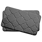 Bounce Comfort Dorothy Memory Foam 17-Inch x 24-Inch Bath Mats in Dark Grey (Set of 2)