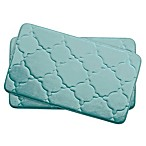 Bounce Comfort Dorothy Memory Foam 17-Inch x 24-Inch Bath Mats in Aqua (Set of 2)