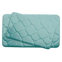 Bounce Comfort Dorothy Memory Foam 2-Piece Bath Mat Set in Aqua