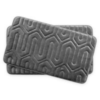 Bounce Comfort Thea Memory Foam 17-Inch x 24-Inch Bath Mats in Dark Grey (Set of 2)