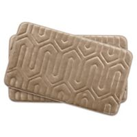 Bounce Comfort Thea Memory Foam 17-Inch x 24-Inch Bath Mats in Linen (Set of 2)