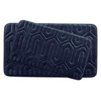 Bounce Comfort Thea Memory Foam 2-Piece Bath Mat Set in Indigo