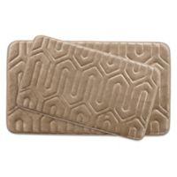 Bounce Comfort Thea Memory Foam 2-Piece Bath Mat Set in Linen