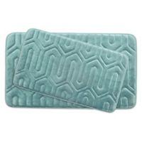 Bounce Comfort Thea Memory Foam 2-Piece Bath Mat Set in Aqua