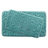 Bounce Comfort Thea Memory Foam Bath 2-Piece Mat Set in Blue