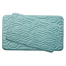 Bounce Comfort Turtle Shell Memory Foam 2 Piece Bath Mat
