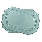 Bounce Comfort Calypso 17-Inch x 24-Inch Memory Foam Bath Mats in Aqua (Set of 2)