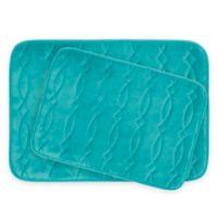 Bounce Comfort Grecian Memory Foam 2-Piece Bath Mat Set in Turquoise