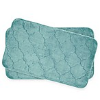 Bounce Comfort Faymore Memory Foam 17-Inch x 24-Inch Bath Mats in Aqua (Set of 2)