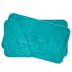 Bounce Comfort Faymore Memory Foam 17-Inch x 24-Inch Bath Mats in Turquoise (Set of 2)