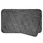 Bounce Comfort Faymore Memory Foam 2-Piece Bath Mat Set in Grey