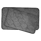 Bounce Comfort  Palace Memory Foam 2-Piece Bath Mat Set  in Grey
