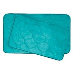 Bounce Comfort Palace Memory Foam 2-Piece  Bath Mat Set in Turquoise