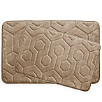 Bounce Comfort Hexagon Memory Foam 2-Piece Bath Mat Set in Linen