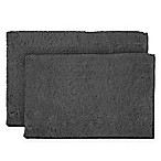Resort Collection Chenille Plush Loop 2-Piece Bath Mat Set in Grey