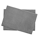Bounce Comfort Memory Foam 17-Inch x 24-Inch Chenille Bath Mats in Light Grey (Set of 2)