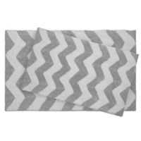 Jean Pierre Zigzag 2-Piece Reversible Cotton Bath Mat Set in Grey