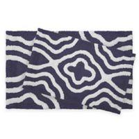 Jean Pierre Giri 2-Piece Reversible Cotton Bath Mat Set in Denim Blue