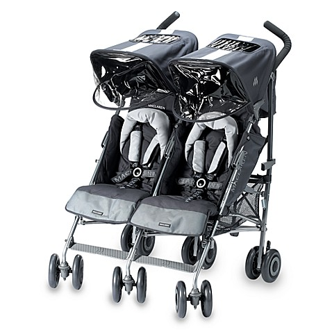 maclaren twin techno stroller in grey buybuy baby. Black Bedroom Furniture Sets. Home Design Ideas