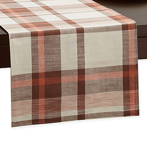 Buy homespun plaid 108 inch x 14 inch table runner from for 108 table runner