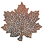 Stained Glass Leaf Placemat in Bronze
