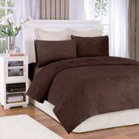 Premier Comfort® Soloft Plush Twin Sheet Set in Mink