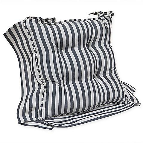 Klear Vu Gripper 174 Reggie Stripe Chair Pad With Ties Bed