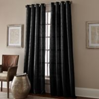 Manhattan 63-Inch Grommet Top Window Curtain Panel in Black