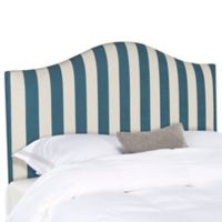 Safavieh Connie Striped Full Headboard in Navy/White