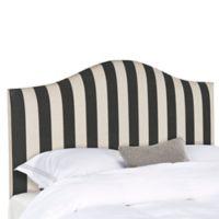Safavieh Connie Striped Queen Headboard in Black/White