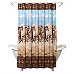 Zenna Home® Running Free Shower Curtain in Western Theme