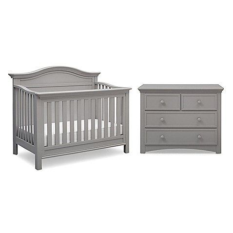 image of serta bethpage nursery furniture collection in grey baby furniture images