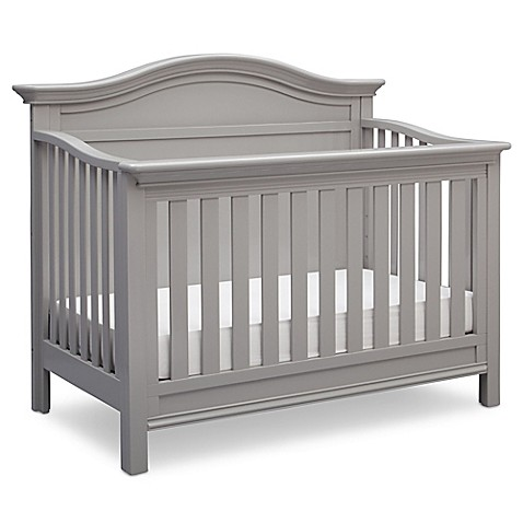 Serta 174 Bethpage 4 In 1 Convertible Crib In Grey Buybuy Baby