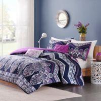 Intelligent Design Adley Full/Queen Comforter Set in Purple