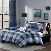 Intelligent Design Camilo Full/Queen Comforter Set in Blue