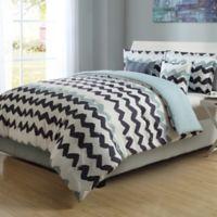 Paint Chevron Stripe Twin/Twin XL Reversible Comforter Set