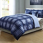 Graphic 4-Piece Reversible Twin/Twin XL Comforter Set in Blue
