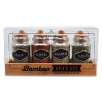 Olde Thompson 4-Pack Bamboo Spice Set
