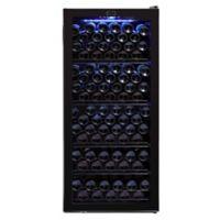 Whynter FWC-1201BB 124-Bottle Freestanding Wine Refrigerator in Black