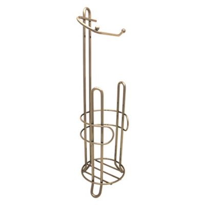 Buy monaco toilet paper stand in rose gold from bed bath beyond - Gold toilet paper holder stand ...