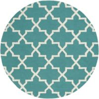 Artistic Weavers 6-Foot Pollack Keely Round Area Rug in Teal/White