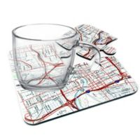 Map Marketing Personalized 4-Piece USGS Coaster Set