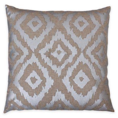 Thro Gail Foil Printed Ikat Square Throw Pillow - Bed Bath & Beyond
