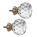 Cambria® Premier Complete Faceted Ball Finials in Warm Gold (Set of 2)