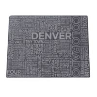 Top Shelf Living Colorado Etched Slate Cheese Board