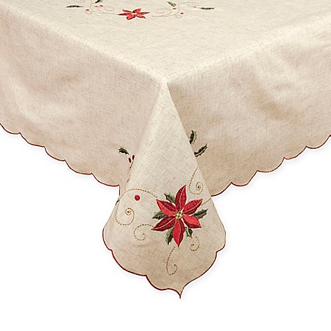Lenox® French Perle™ Poinsettia Tablecloth