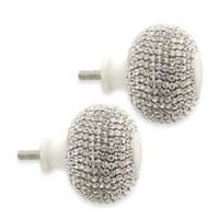 Cambria® My Room Twinkle Finial in Silver and Satin White (Set of 2)