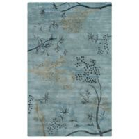 Rizzy Home Craft Branches 3-Foot x 5-Foot Accent Rug in Blue