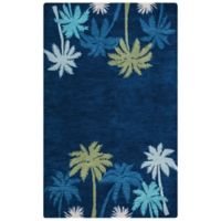 Rizzy Home 8-Foot x 10-Foot Tropical Cabot Bay Rug in Navy