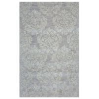 Rizzy Home Marianna Damask 5-Foot x 8-Foot Area Rug in Beige